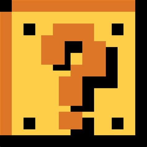 piq mario bros question block 100x100 pixel art by
