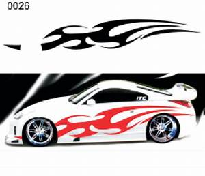 custom auto flame decal kits car decals autos post With automotive lettering decals
