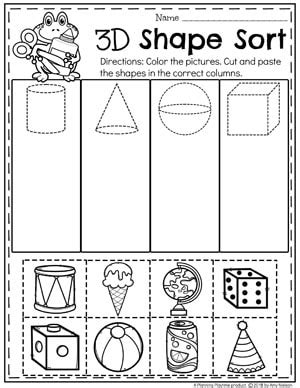3d shape activities for preschoolers shapes worksheets planning playtime 410