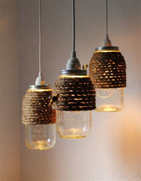 turning jars into light fixtures