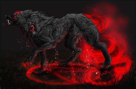 .:Harakiri:demonic hellhound:. by WhiteSpiritWolf on ...