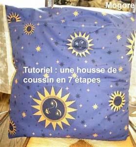 Coudre Une Housse De Coussin : housse de coussin en 7 tapes mogore la cr atosaure ~ Melissatoandfro.com Idées de Décoration