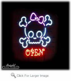 Princess Skull Neon Open Sign only $409 99 More Neon