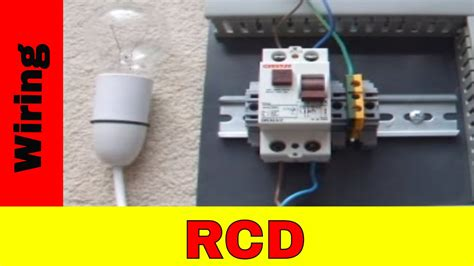 wire residual current device rcd youtube