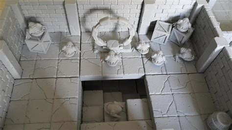 3d dungeon tiles kickstarter rocket pig tilescape dungeons kickstarter