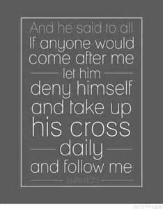 Printable Bible Verse Cross