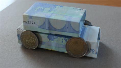 geldgeschenk hochzeit auto geldscheine falten auto geldgeschenk z b f 252 r