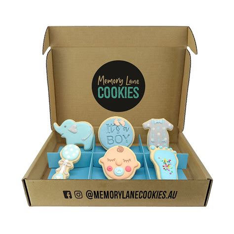 Find a great selection of exceptional gifts everyone will love for all occasions. Baby Boy Cookie Gift Box   Delivery Australia & Memory ...