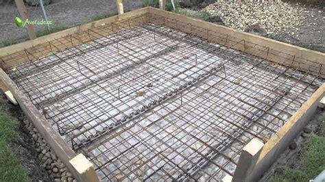 beton fertigmischung fundament fundament legen betonieren teil 2 bewehrung und betonieren