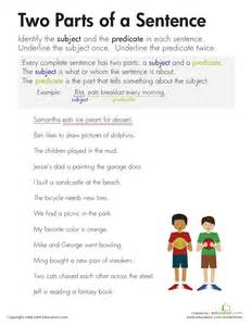 Identifying Sentence Parts