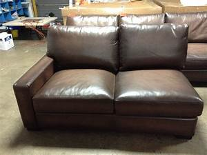 Pottery barn turner leather sofa sectional square arm left for Pottery barn turner sectional sofa