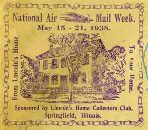 Weeks Upholstery Springfield Il by Namw National Air Mail Week Il