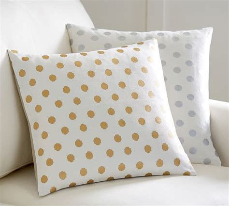 Dot Beaded Pillow Cover Pottery Barn by Metallic Dot Printed Pillow Cover Pottery Barn