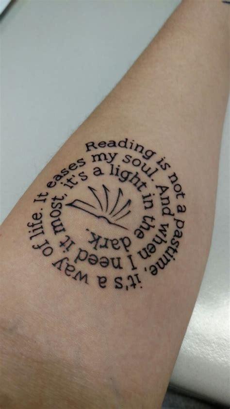 literary tattoos ideas  pinterest reading