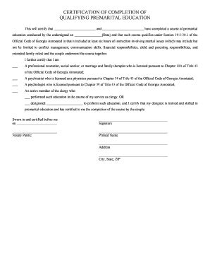 sample letter  completion  marriage counseling fill