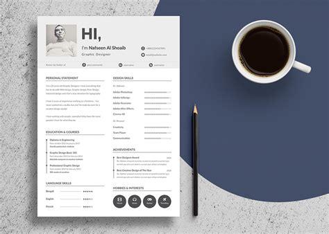 unique resume design cv template  psd ai files