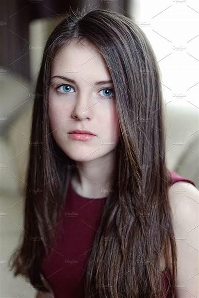 Young Hair Pretty Teenage Teen Beauty Models