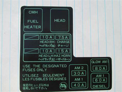 Toyota Pickup New Fuse Box Label