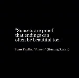 Quotes Beau Tap... Sunset Goodbye Quotes