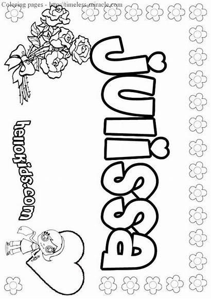 Coloring Pages Names Bubble Letters Printable Elisa