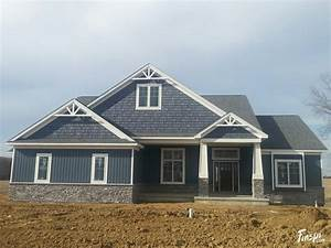 house color and siding style. certainteed pacific blue ...