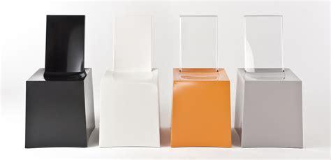 chaise stark miss less chair plastic transparent backrest white