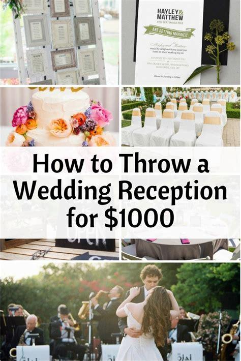 throw  wedding reception    budget diet