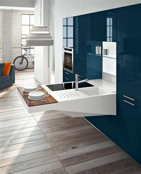 modernas cocinas de diseno compacto  espacios pequenos