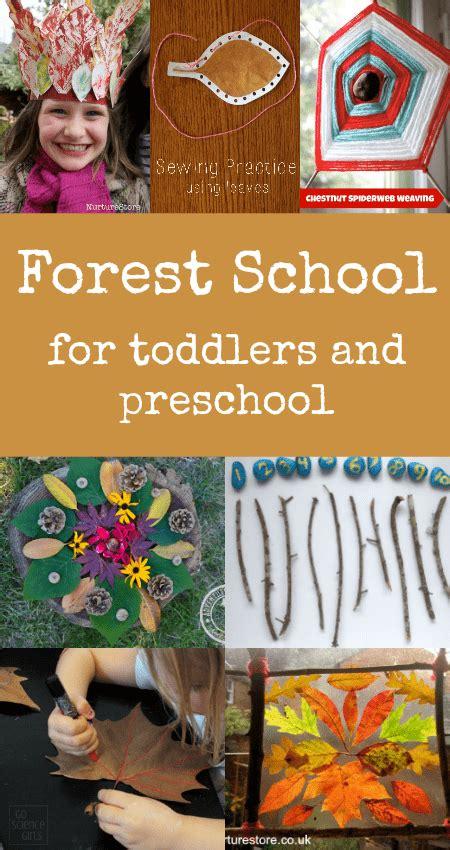 forest school activities  toddlers  preschool