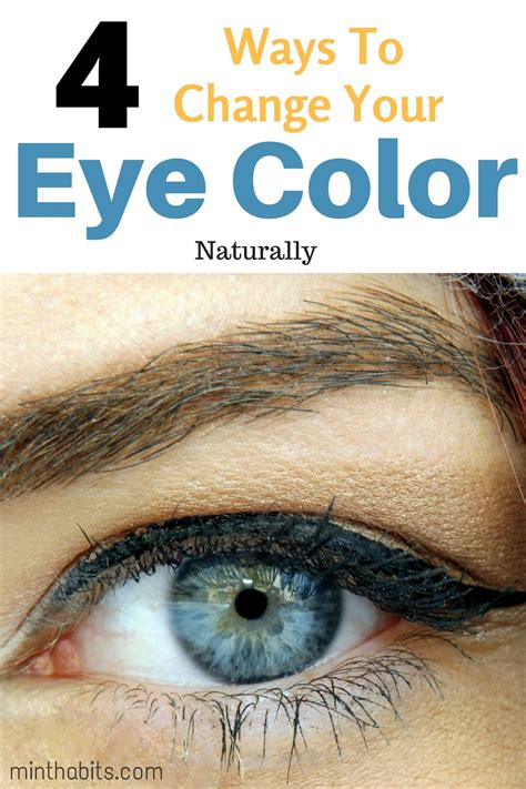 how to change your eye color naturally permanently