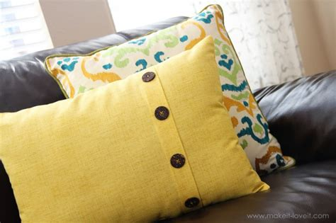button throw pillow fold button pillow home decor make it and it
