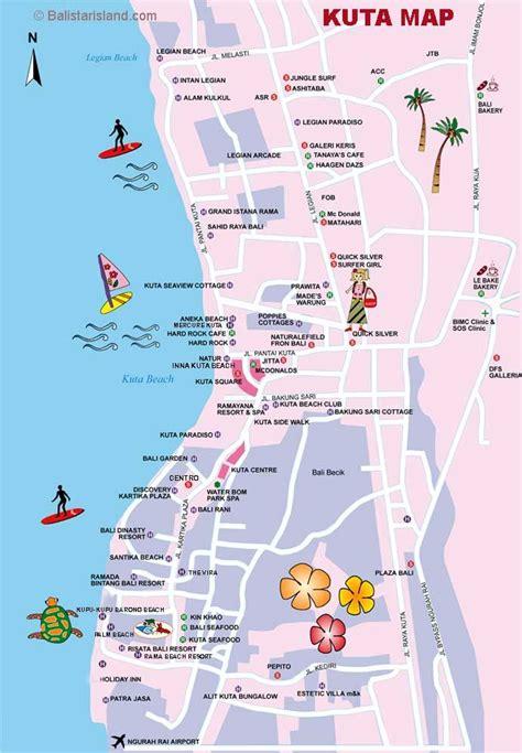 kuta map bali map information travel guides travel