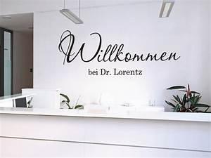 Tattoos Für Die Wand : wandtattoo willkommen mit name f r arztpraxen ~ Orissabook.com Haus und Dekorationen