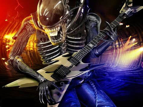 alien cool alien metal - Abstract Fantasy HD Desktop Wallpaper