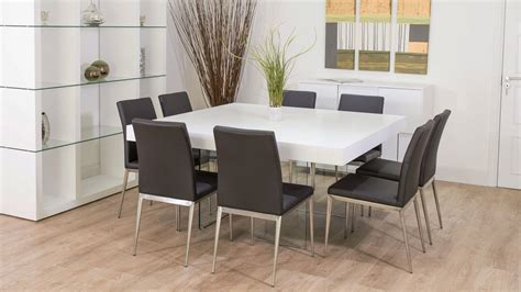 white and oak dining table set large square white oak dining table trendy glass legs