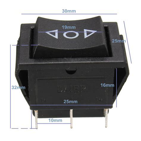 12 volt 6 pin dpdt power window momentary rocker switch ac