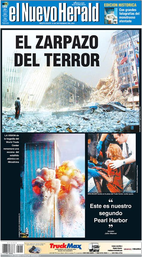 september  newspaper front pages    day