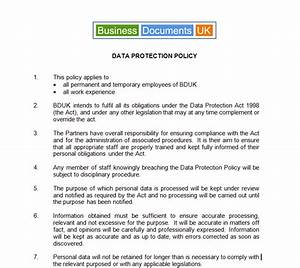 Data Management Policy Template Create Your Data Protection Policy Simple DPA Compliance Template