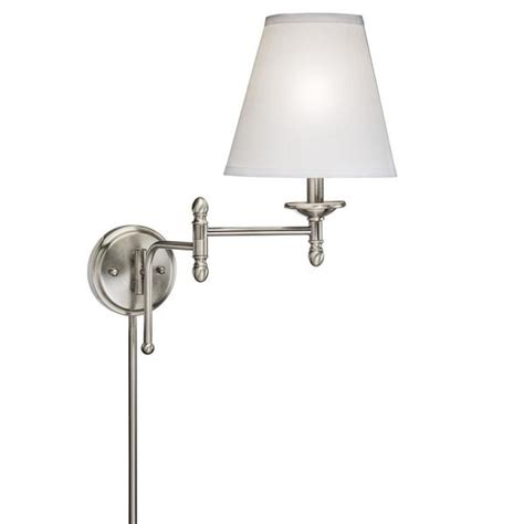 swing arm 1 light in antique pewter wall l 15559651 overstock shopping top