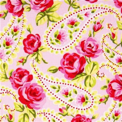 pale pink designer fabric  roses paisley