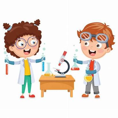 Experiment Chemistry Vector Lesson Clip Illustrations Science