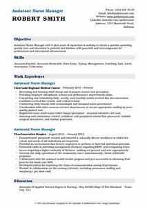 Build Resume Free Download Assistant Nurse Manager Resume Samples Qwikresume