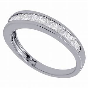 real diamond baguette wedding band ring in 925 sterling With baguette wedding band rings