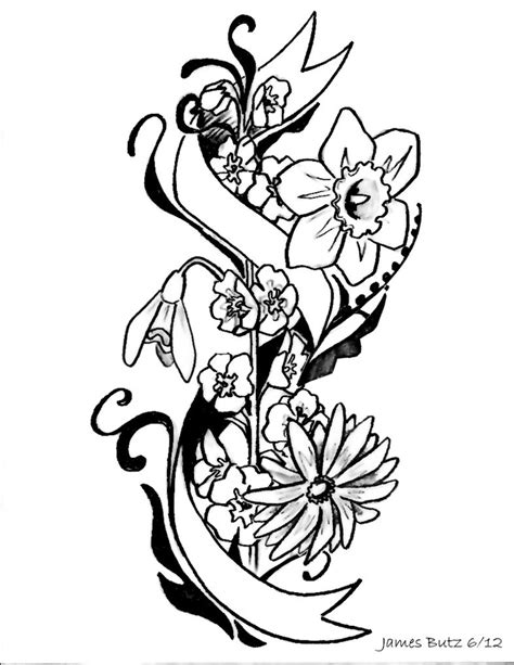 Flower tattoo sketches   Tattoo   Pinterest   Tattoo