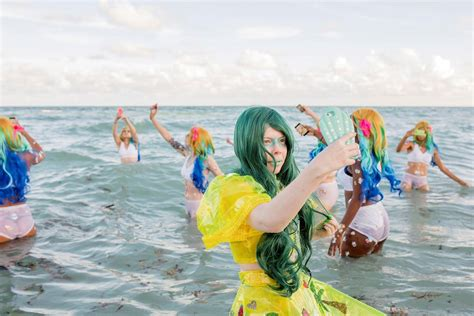kitty mermaids   miami beach dazed