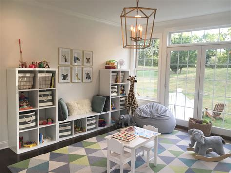 Playroom. Toddler Room. Baby Animals. Blue Gray White Gold