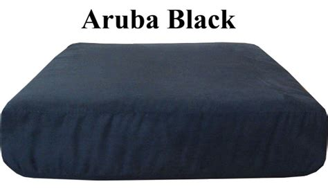 Sofa Seat Cushion Covers by Aruba Black Sofa Or Seat Replacement Cushion Cover