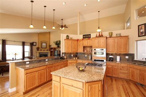 denver hickory kitchen cabinets i like the wall color