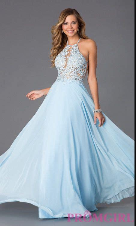 Light Blue Long Flowy Lacey Sleeveless Prom dress   Light ...