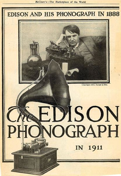 Image result for Edison patented a music player (the phonograph).
